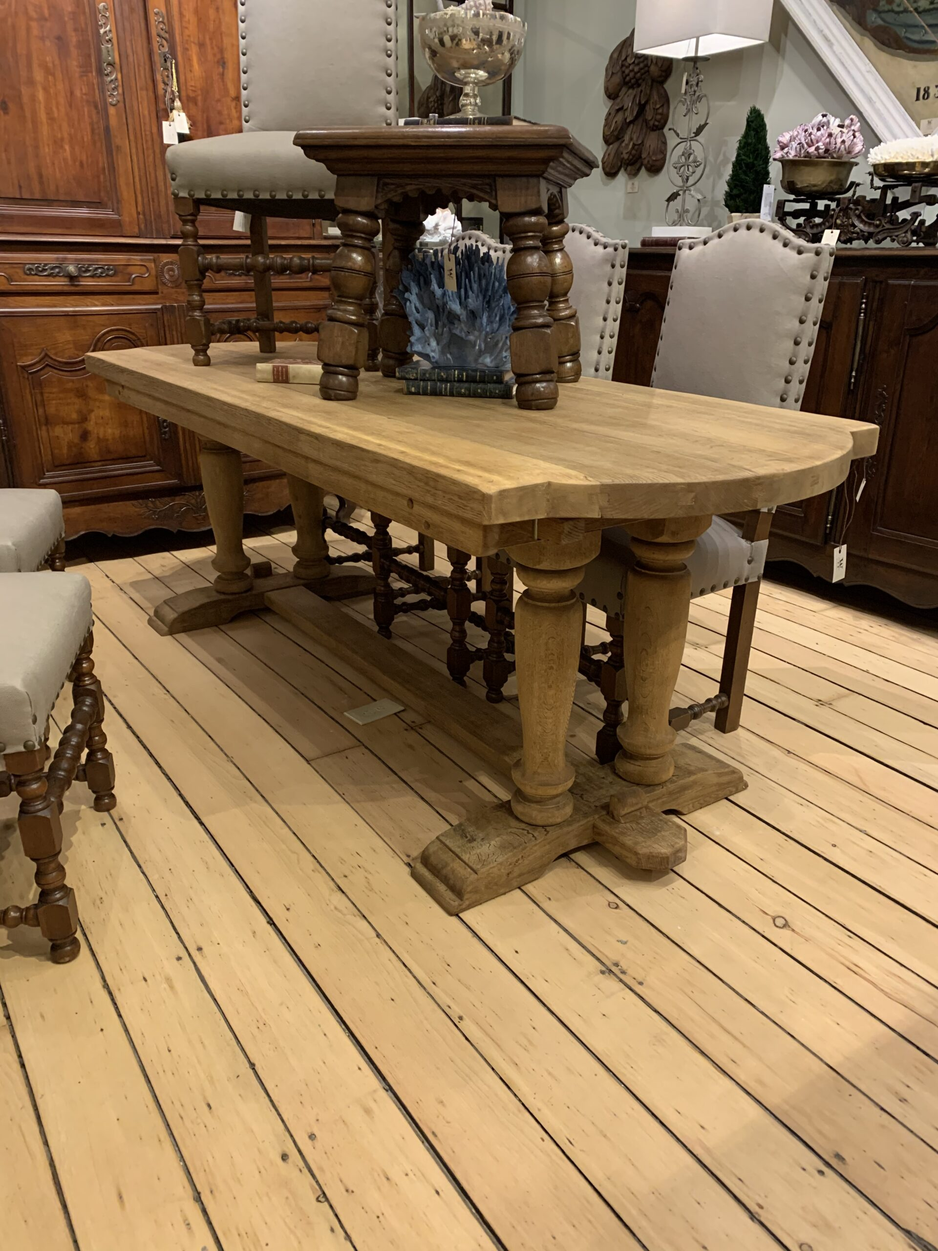 Image of Bleached Trestle Table